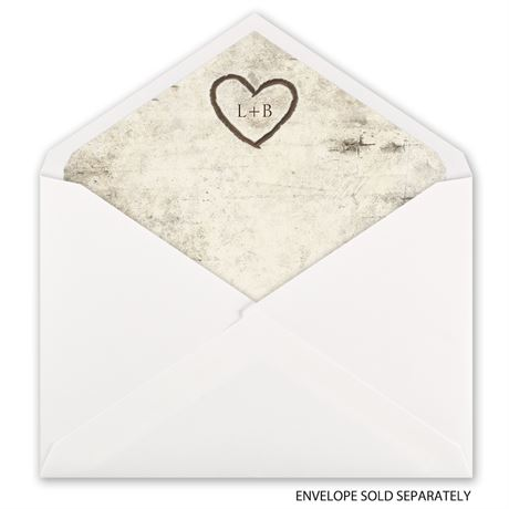 Birch Tree Carvings - Envelope Liner
