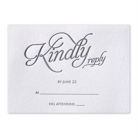 Chic Lace Letterpress Response Card