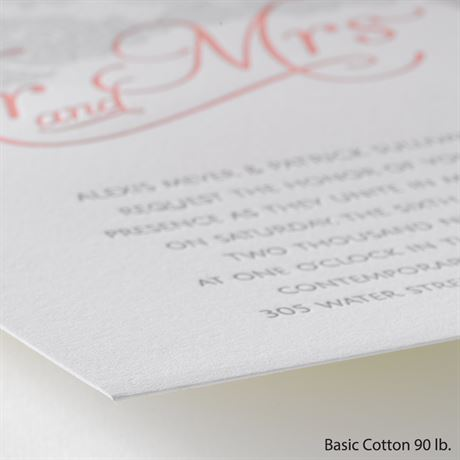 Chic Lace - Letterpress Invitation