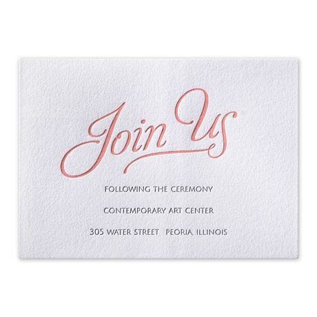 Chic Lace Letterpress Reception Card