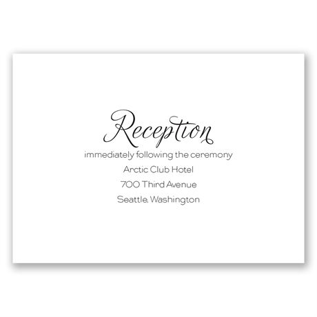 Photo Love Reception Card