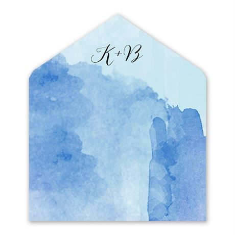 Love Embraced - Pastel Blue - Envelope Liner