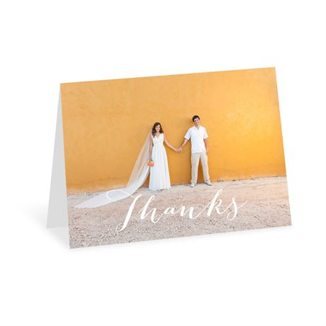 Sweet Serenity - Aqua - Thank You Card