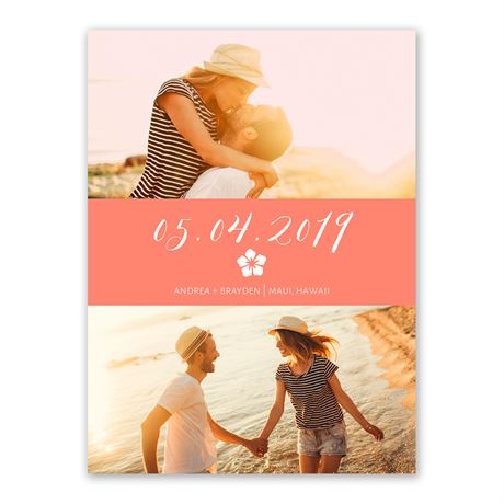 Sweet Serenity Save the Date Card