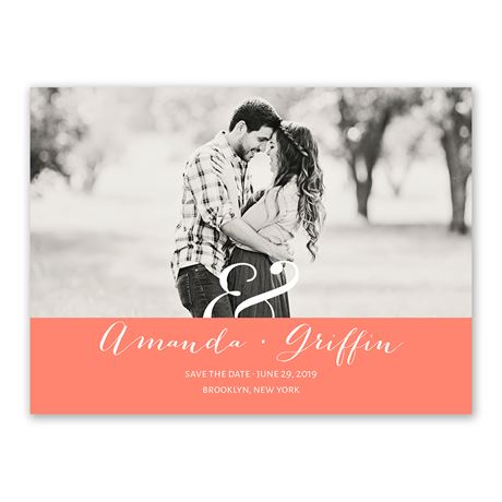 Modern Style Save the Date Card
