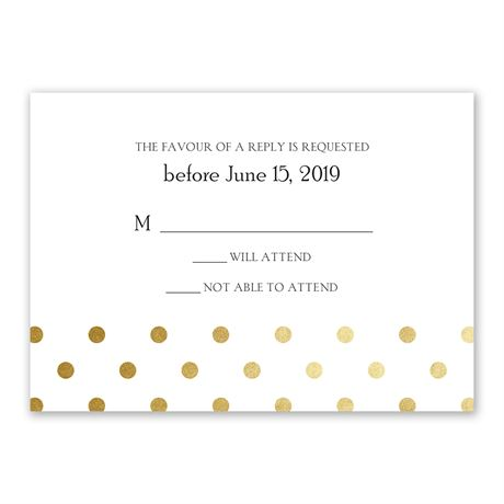 Hello Contempo - Gold - Foil Response Card