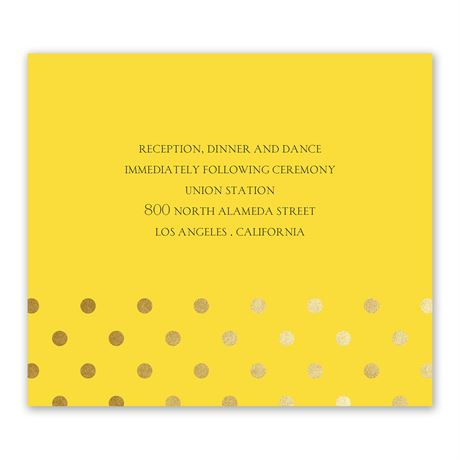 Hello Contempo - Gold - Foil Information Card