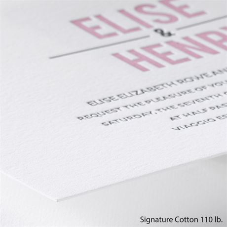 Sweet Simplicity - Letterpress Invitation