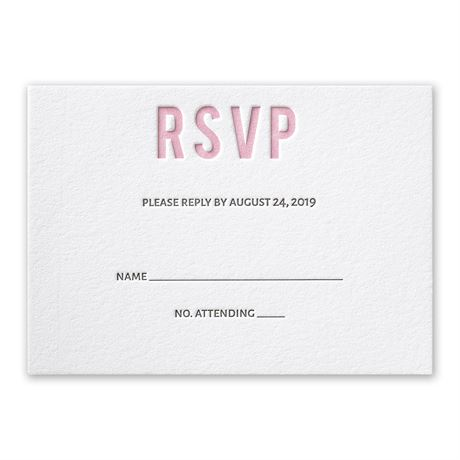 Sweet Simplicity Letterpress Response Card