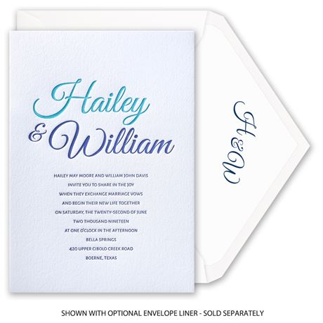 Modern Charm - Letterpress Invitation