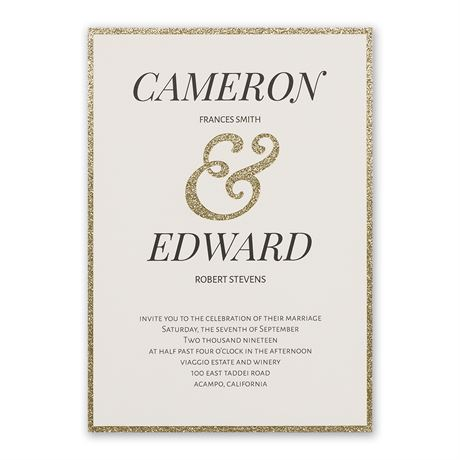 Clean Cut - Laser Cut Invitation