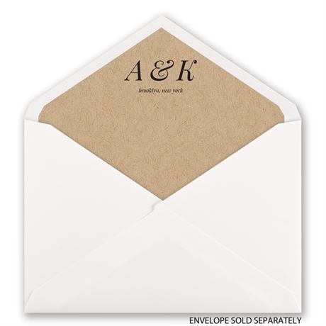 Naturally Chic - Designer Envelope Liner
