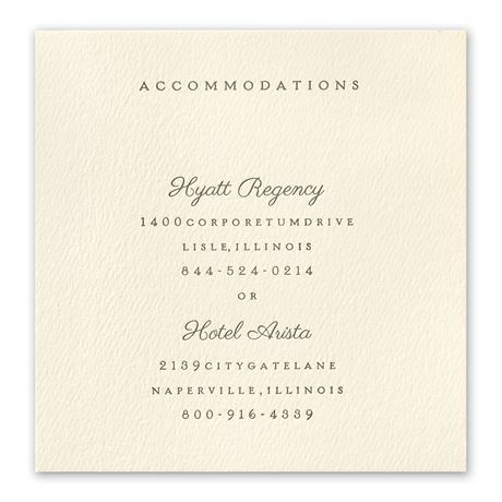 Modern Sophistication Accommodations Card