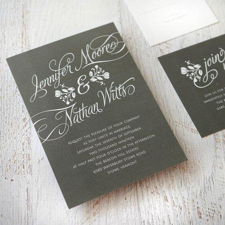 Adios Ayer - White - Invitation