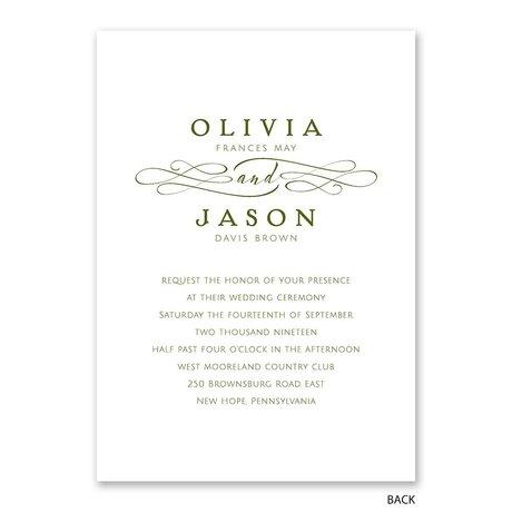 Old Style Script - Gold Foil - Invitation