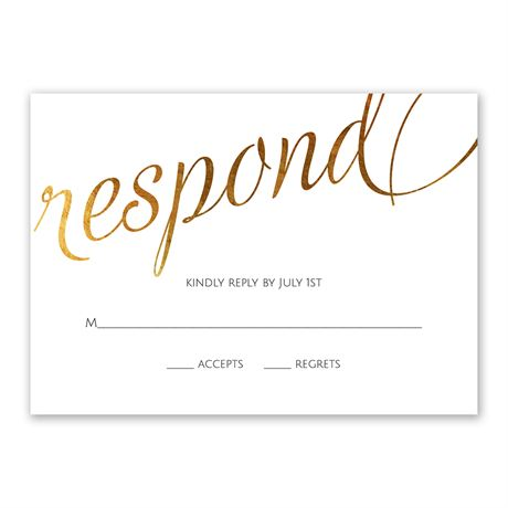 Old Style Script - Gold Foil - Response Card