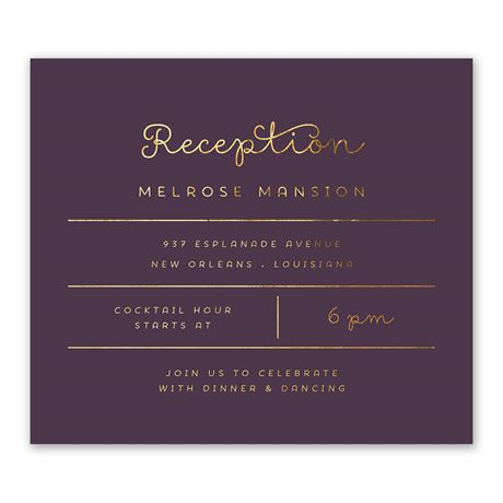 Showcase Your Love - Gold Foil - Information Card