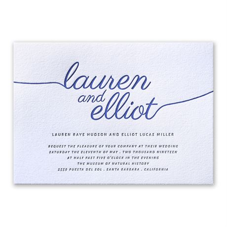 French Beauty Letterpress Invitation