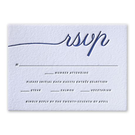 French Beauty Letterpress Response Card