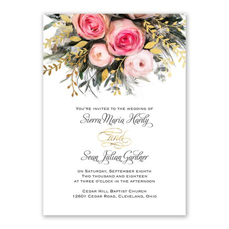 Ethereal Garden - Gold - Foil Invitation