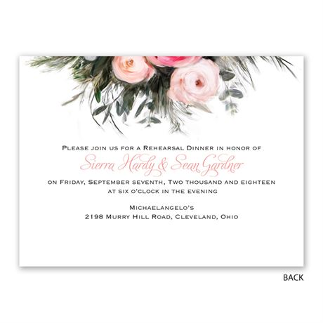 Ethereal Garden - Petite Rehearsal Dinner Invitation