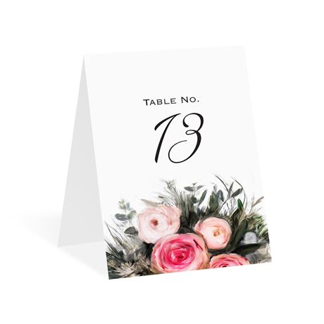 Ethereal Garden Table Number Card