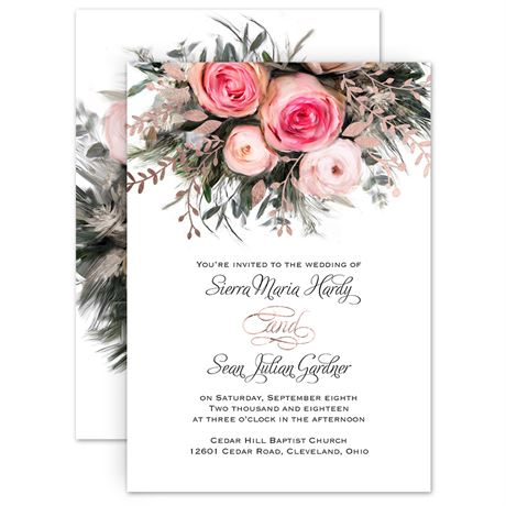 Ethereal garden foil invitation invitations by dawn stopboris