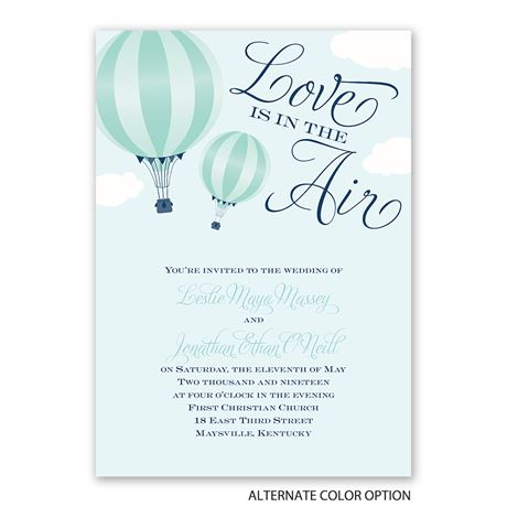 Love Is in the Air - Invitation