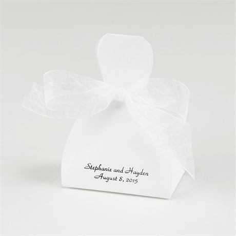White Gown Favor Boxes