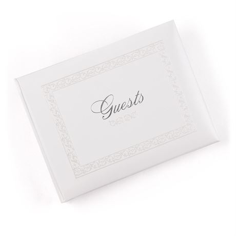 Personalized Silver Sparkle Guest Book