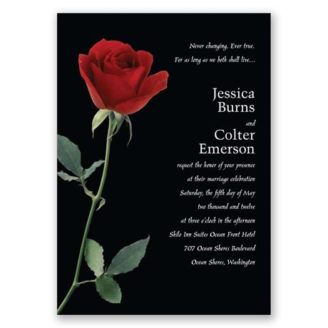 Rose Red Invitation