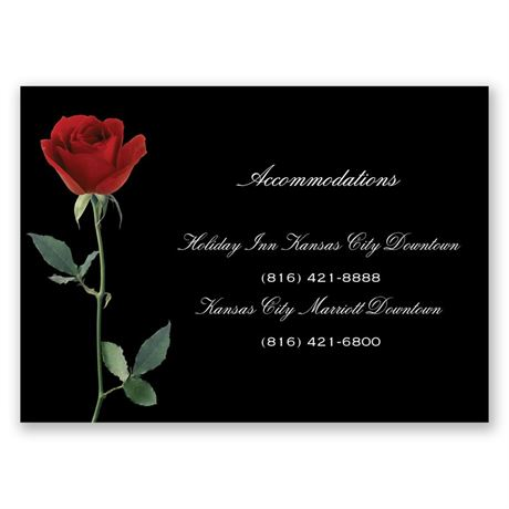 Rose Red Accommodations Card