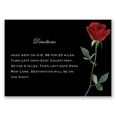 Rose Red Map Card