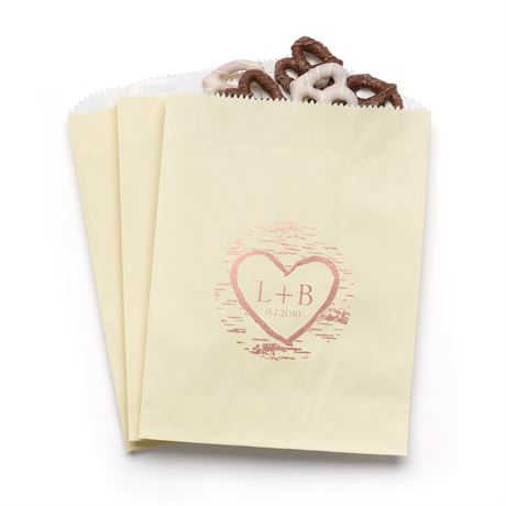 Birch Tree Carvings - Ecru - Favor Bags