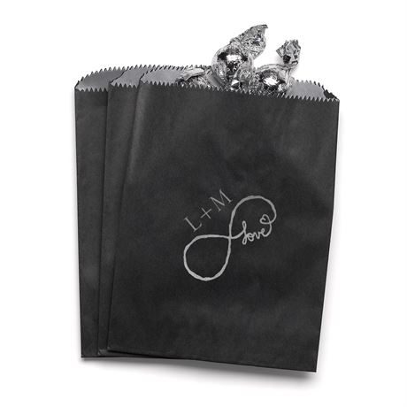 Love for Infinity - Black - Favor Bags