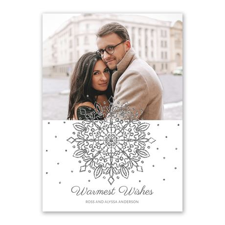 Dancing Snowflake Foil Holiday Card