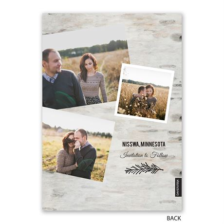Birch Beauty - Holiday Card Save the Date