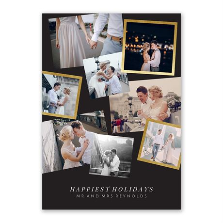 Couples Collage - Foil Holiday Card