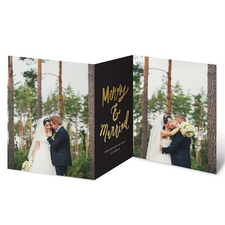 Very Merry Love Faux Foil Holiday Card