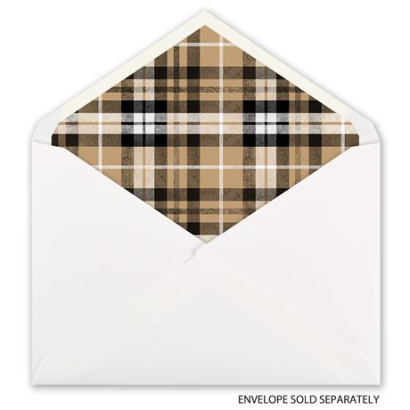 Taupe Plaid - Designer Envelope Liner