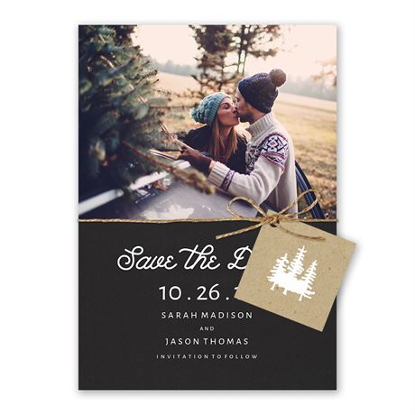 Elegant Outdoors Holiday Card Save the Date