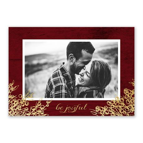 Be Joyful - Foil Holiday Card