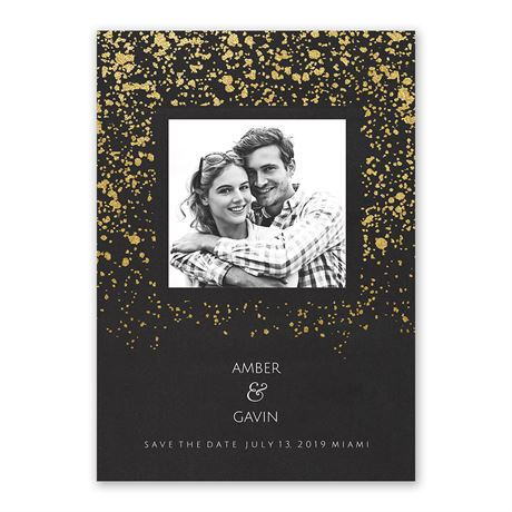 Falling Glitter Foil Holiday Card