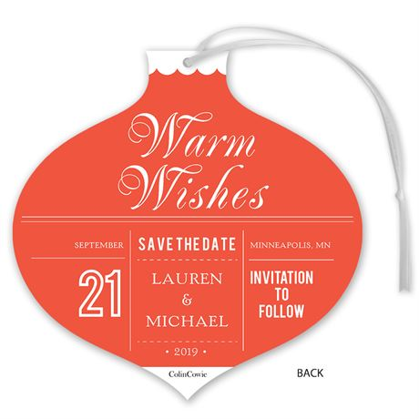 Ornamental - Foil Holiday Card Save the Date