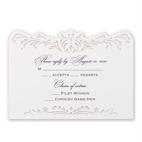 Intricate Beauty Laser Cut Response Card