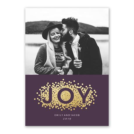 Dots of Joy - Foil Holiday Card