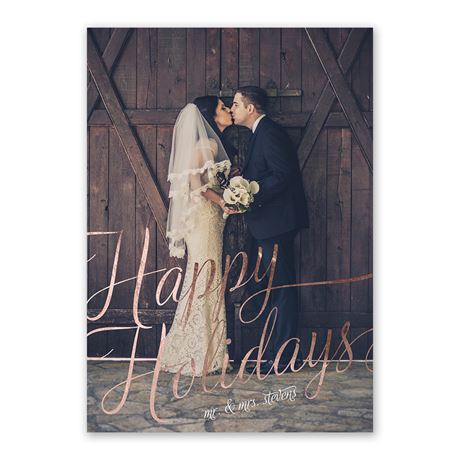 Bright Holiday - Foil Holiday Card