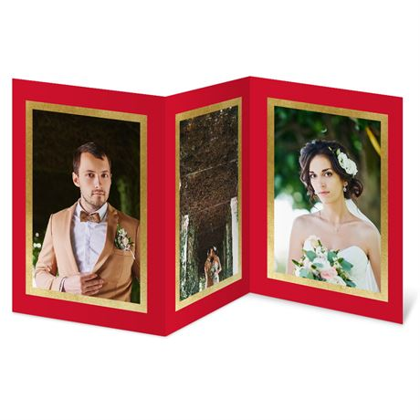 Luxurious Frames Foil Holiday Card