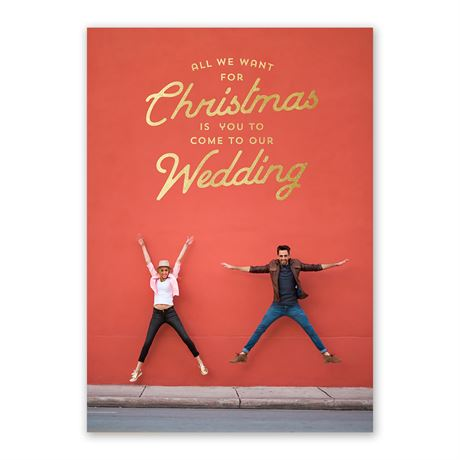 We Want You! - Foil Holiday Card Save the Date