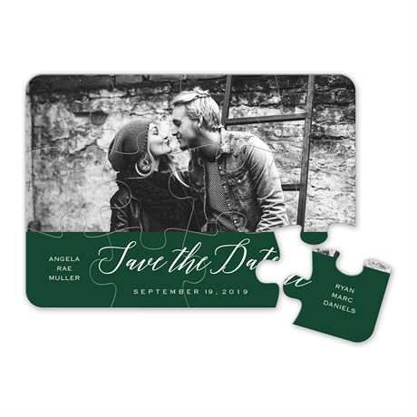 In Love Save the Date Puzzle